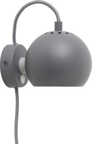 Ball væglampe mat lys grå