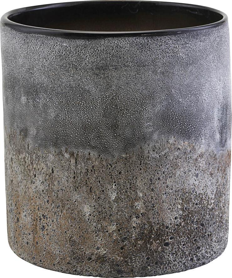 Urtepotteskjuler, Rock, h: 21 cm, dia: 20