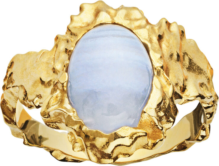Goddess Ring Blue Lace Agate