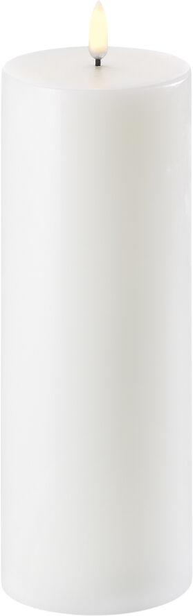 UYUNI Lighting - LED Pillar Candle - Nordic White - 7,8 x 25
