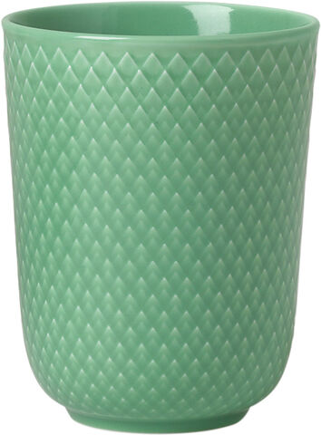 Rhombe Krus 33 cl grøn porcelæn