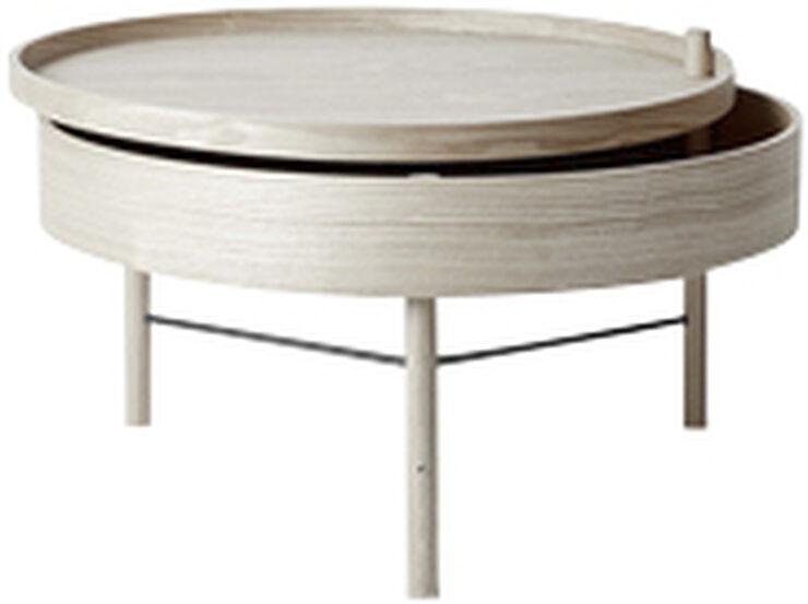 Turning Table, White Oak/Black Chro