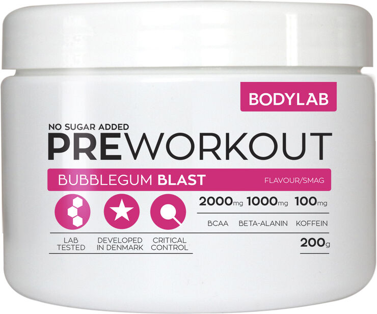 Pre Workout Bubblegum Blast