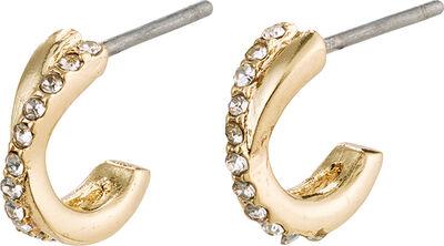Øreringe, anouk, guldbelagt, krystal