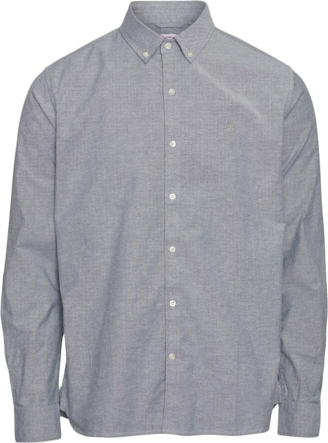 ELDER LS small owl oxford shirt - GOTS/Vegan