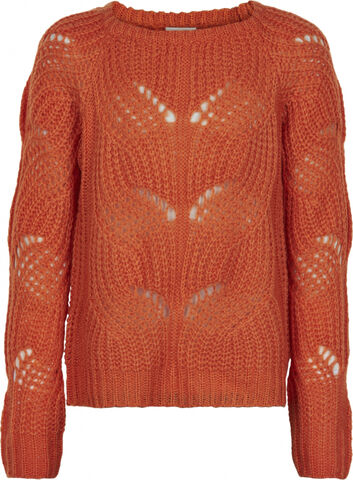 RIVER KNIT PULLOVER COL. NECTARINE