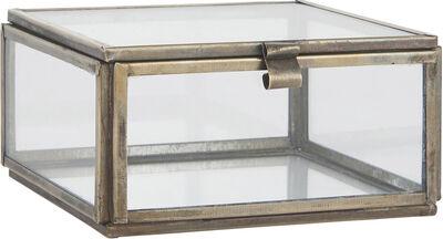 Glasboks m/låg kvadratisk