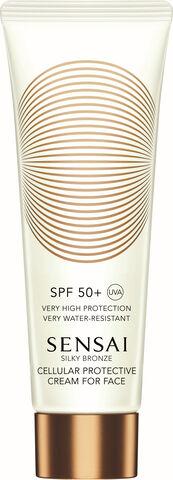Silky Bronze Cellular Protective Cream For Face SPF50+
