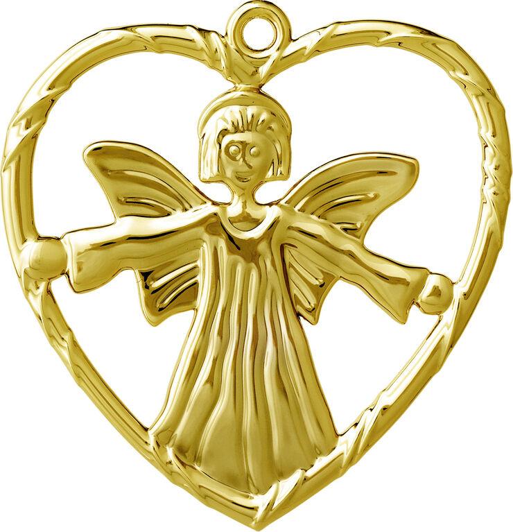 Engel i hjerte H7 forgyldt
