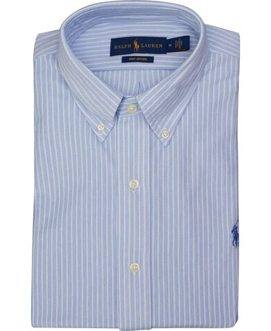 Stribet Oxford knit skjorte