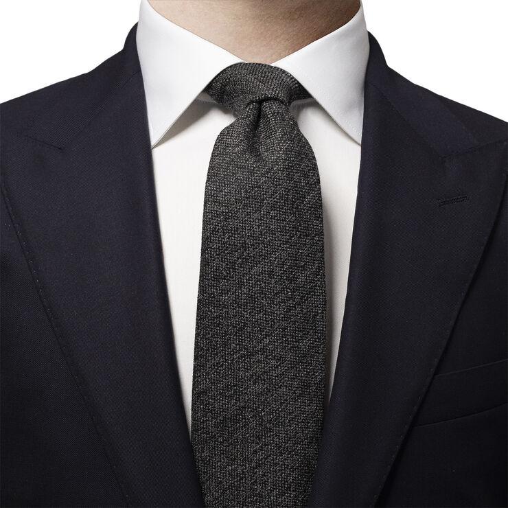 Gray Wool Blend Tie