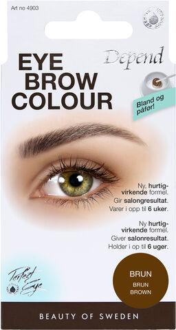 Eyebrow colour Brown