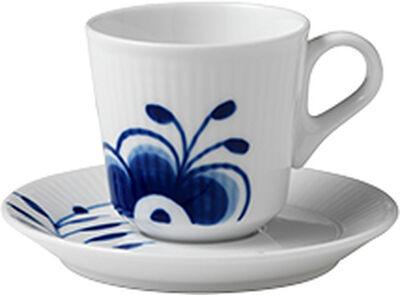 Blå Mega Riflet 9 cl. espressokop