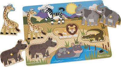 Wooden Peg Puzzle - Safari