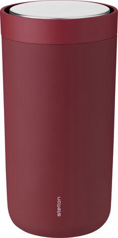 To Go Click d. steel, 0,2 l. - soft warm maroon