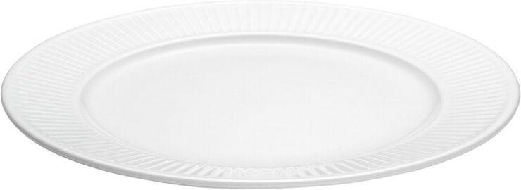 Plissé tallerken flad, hvid Ø24cm
