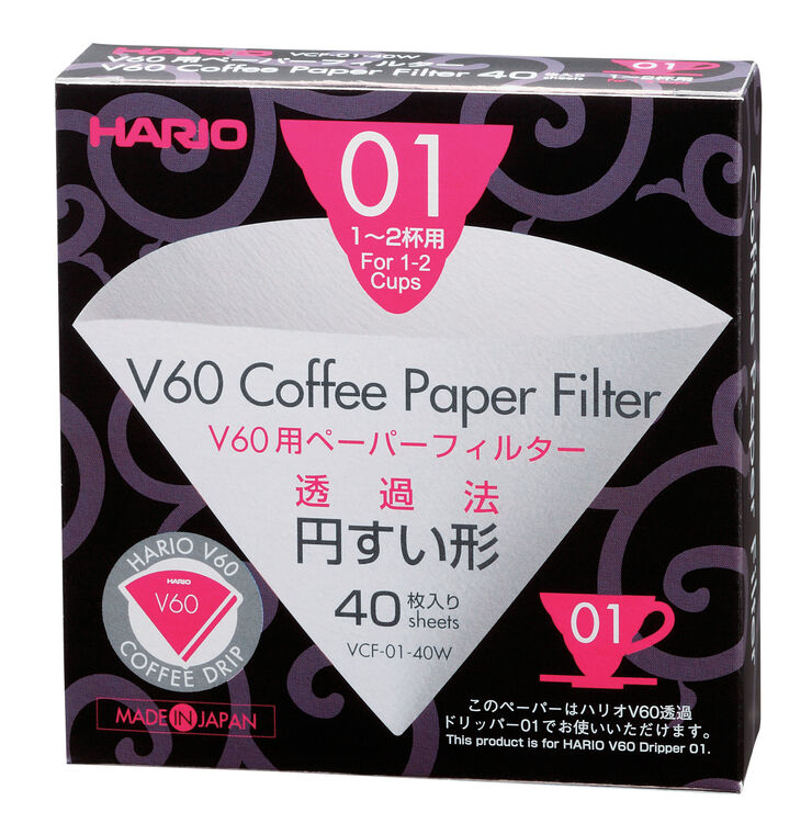 Hario Paper Filter 1 Cup (40 pcs. Box)