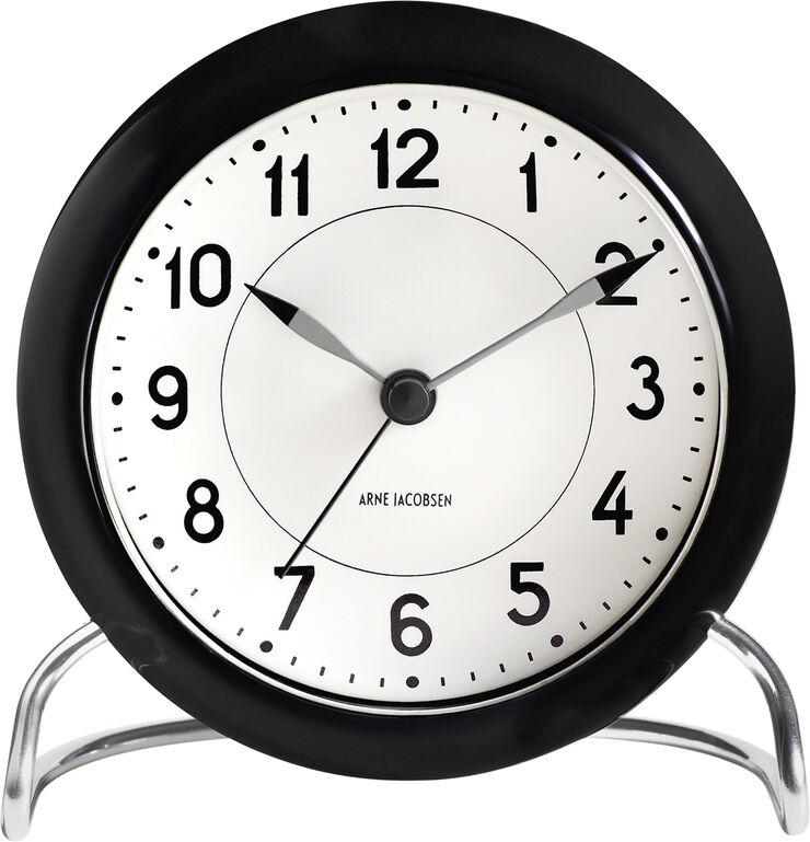 AJ Station bordur, sort/hvid, Ø 11 cm, alarm