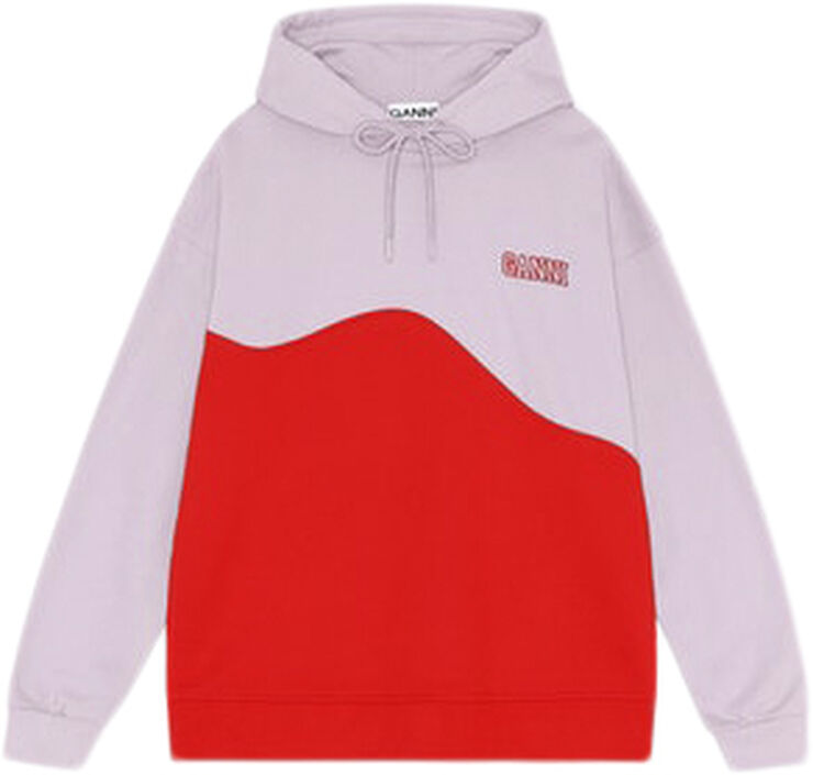 T2955 SOFTWARE Colourblock hoodie sweatshirt