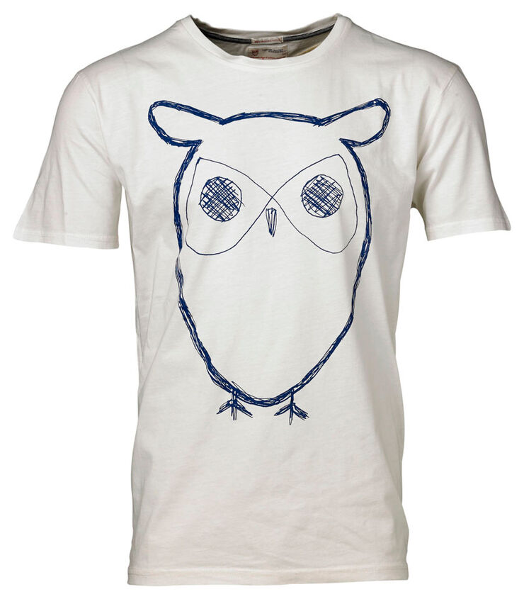 Single Jersey With Owl Print GOTS