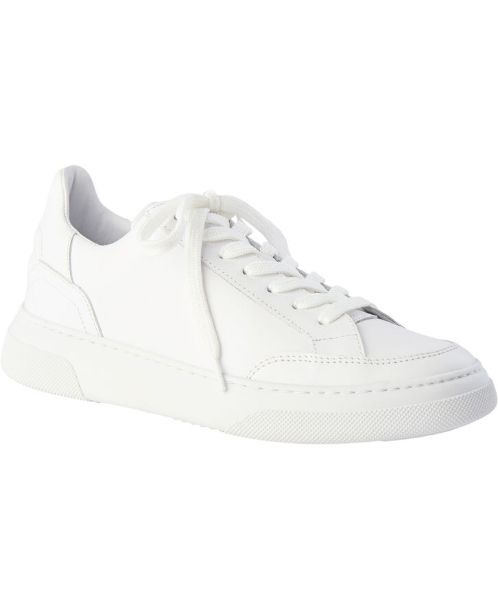 Off Court - All White Leather
