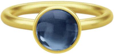 Primini Ring 52 - Gold/Sapphire Blue