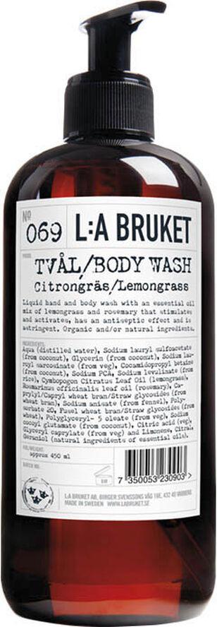 Hand & Body Wash Lemongrass 450 ml.