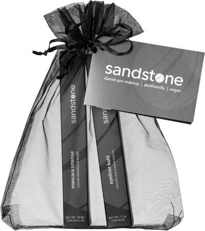 Sandstone gavepose mascara/eyeliner Sort