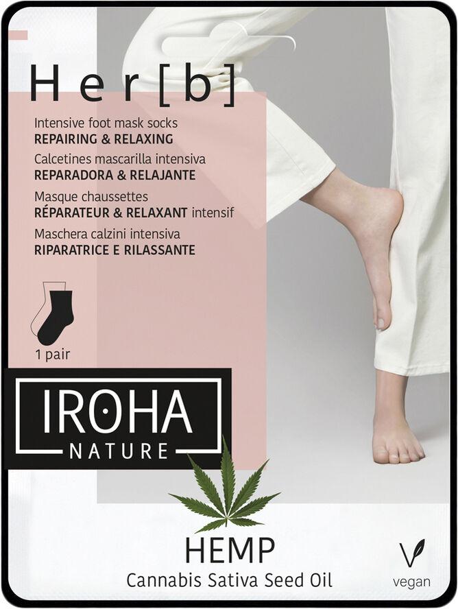 Iroha HEMP Cannabis Foot Mask Socks