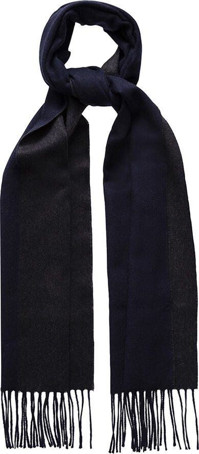 Blue double-sided luxury cashmere scarf