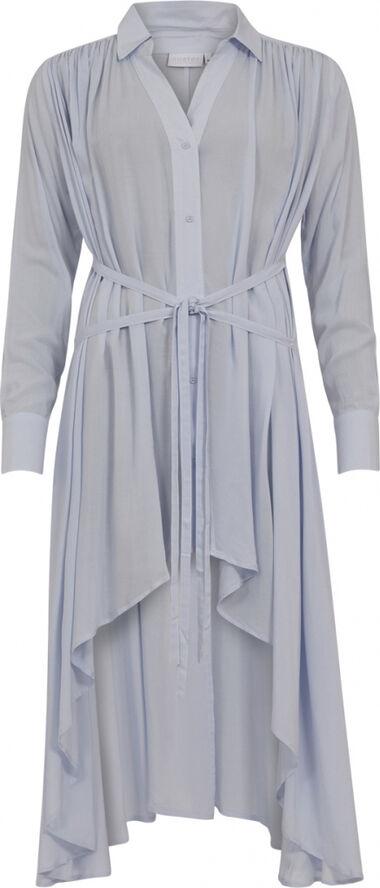 Shirt dress with tying belts - EcoVero Lenzing Viscose