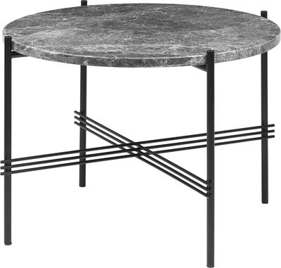TS Coffee Table - Round, Ø55, Black base Grey Emperador Mar
