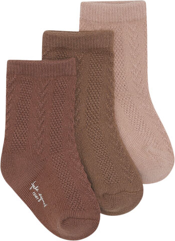 3 PACK POINTELLE SOCKS