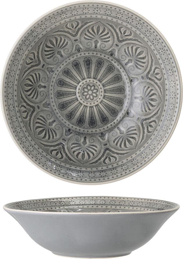 Rani Serving Bowl, Grey, Stoneware