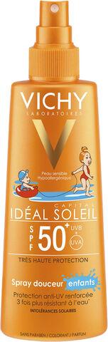 Idéal Soleil solspray børn til ansigt/krop SPF 50+, 200 ml.