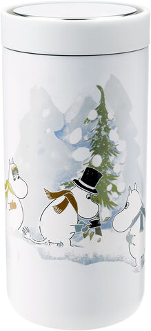 To Go Click d. steel, 0,4 l. - soft white - Moomin