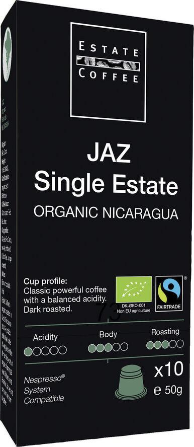 Estate kaffekapsler, Single Estate JAZ, økologisk .10 stk