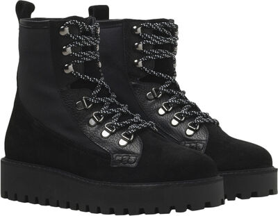 Mina Boot - Black Suede