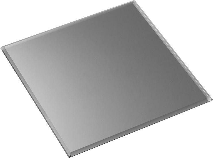 STOFF glasplade - kvadratisk, røgfarvet sort