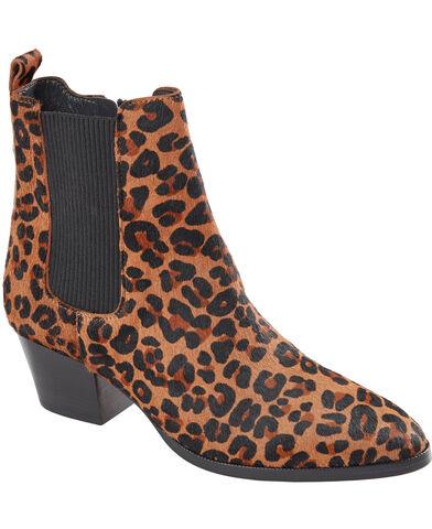 Støvlet m. leopard print