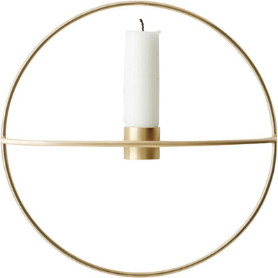 POV Circle, Candleholder, S, Brass