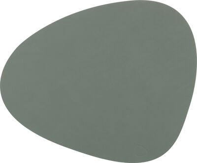 TABLE MAT CURVE L (37x44cm) NUPO pastel green