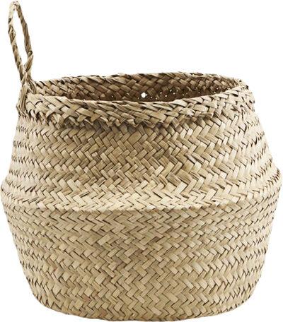 Kurv, Tanger, h: 18,5 cm, dia: 24 cm,100% Søgræs