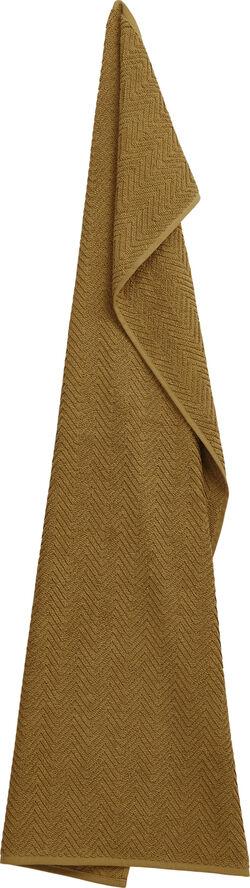 Organic HERRINGBONE towel, Cognac
