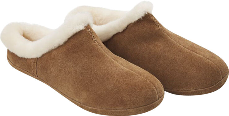 NATURES Collection Cozy Slipper, Suede/Lambskin, Chestnut