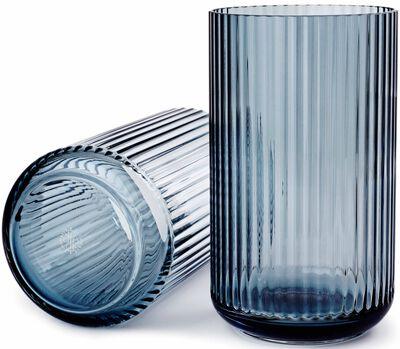 Lyngbyvasen glas blå