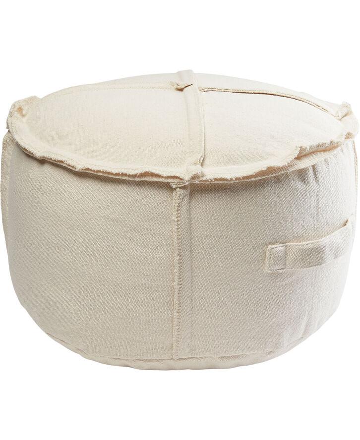 PUF/OFF WHITE, PUFF DIA 50X35 CM