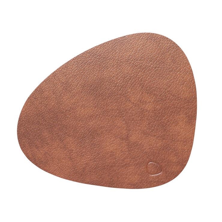 Table Mat Curve L Bull Cognac