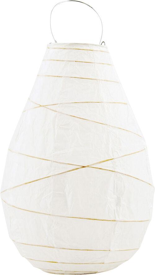 Lanterne, Drop, Hvid, dia: 20 cm, h: 30 - Hb0051