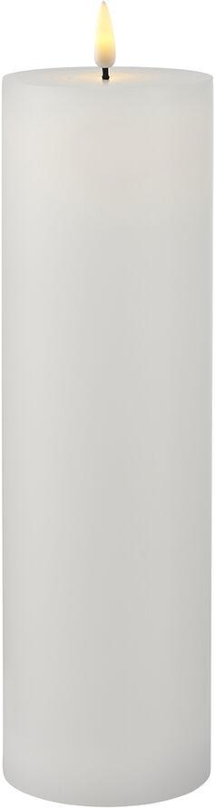 Sille Exclusive Ø7,5xH25cm, Hvid